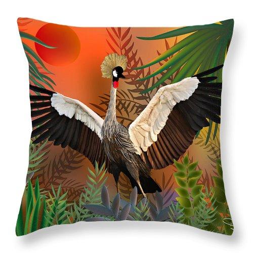 Bird Throw Pillow featuring the digital art Songbird - Limited Edition 2 Of 20 by Gabriela Delgado
