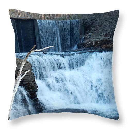 Waterfalls Throw Pillow featuring the photograph Sounds Of Nature by Kathy R Thomas