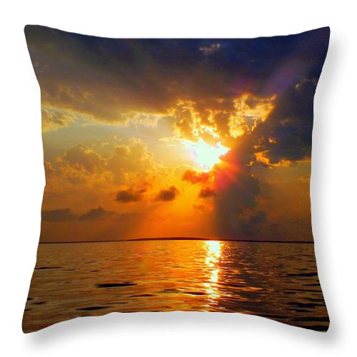 Sunsets Throw Pillow featuring the photograph Sounds Of Silence by Karen Wiles