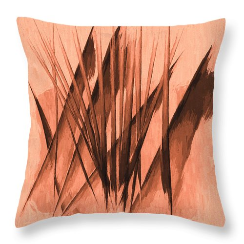 Abstract Throw Pillow featuring the painting Sounds Of Spring by Bob Orsillo