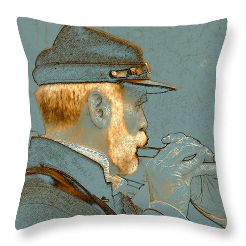 Aert Throw Pillow featuring the painting Sounds Of The Civil War by David Lee Thompson