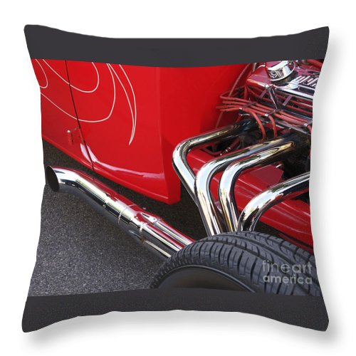Car Throw Pillow featuring the photograph Souped Up by Ann Horn