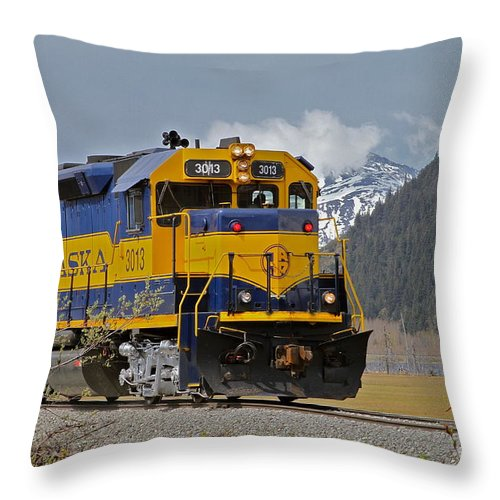 Train Throw Pillow featuring the photograph South Bound by Rick Monyahan