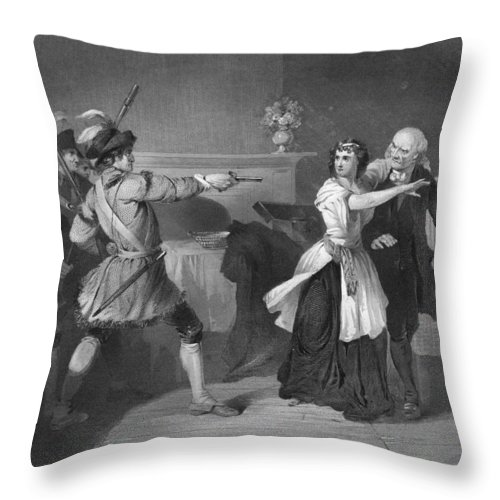 1780s Throw Pillow featuring the photograph South Carolina: Loyalists by Granger