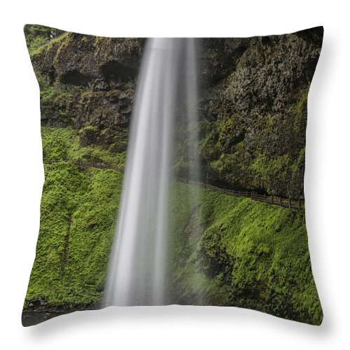 Waterfall Throw Pillow featuring the photograph South Falls 2 by Erika Fawcett