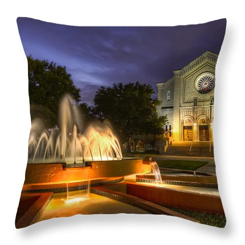 Tim Stanley Throw Pillow featuring the photograph South Main Baptist Church by Tim Stanley
