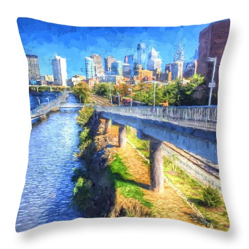 Philadelphia Throw Pillow featuring the photograph South Street Walk by Alice Gipson