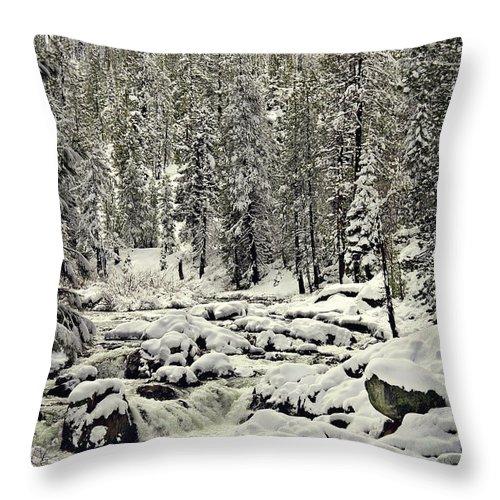 Sierra's Throw Pillow featuring the photograph South Yuba River by Shawn McMillan