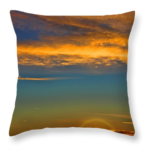 Southern California's Throw Pillow featuring the photograph Southern California's Wafarers Chapel 5 by Tommy Anderson