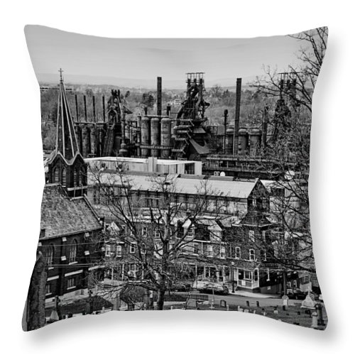 Bethlehem Throw Pillow featuring the photograph Southside by DJ Florek