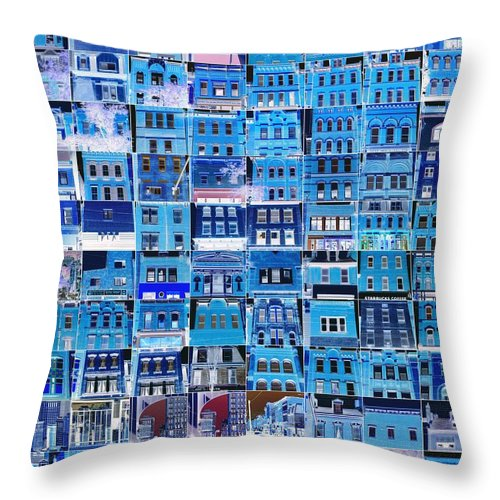 Cheerful Greeting Card Throw Pillow featuring the photograph Southside Pittsburgh by Joe Pratt