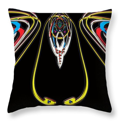 Insect Throw Pillow featuring the digital art Space Fly by Alec Drake