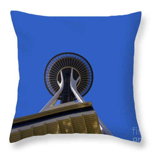 Seattle Throw Pillow featuring the photograph Space Needle by Brenda Kean