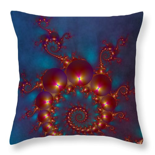 Fractal Throw Pillow featuring the digital art Space Worm by Ester Rogers