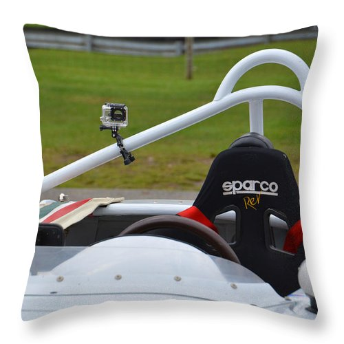Alfa Romeo Throw Pillow featuring the photograph Sparco Rev by Mike Martin