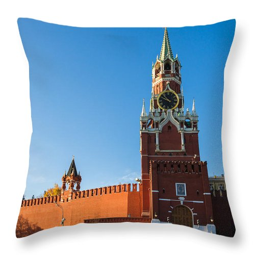Architecture Throw Pillow featuring the photograph Spassky - Savior's - Tower by Alexander Senin