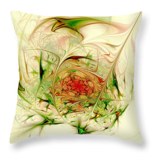 Computer Throw Pillow featuring the digital art Special Place by Anastasiya Malakhova