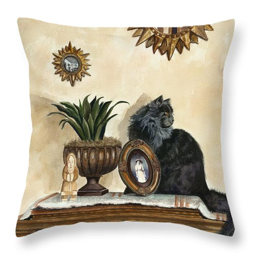Special Treasures Throw Pillow featuring the painting Special Treasures by Terri Meyer