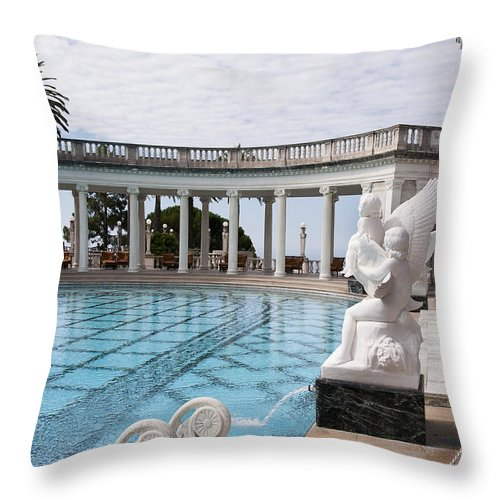 Big Sur Throw Pillow featuring the photograph Spectacular Pool by Brenda Kean