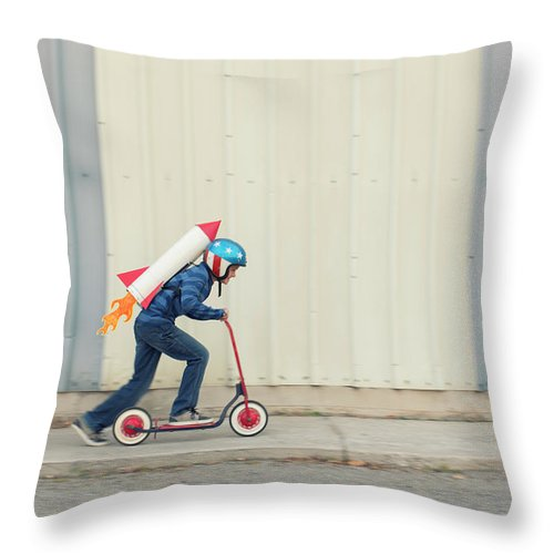 Taking Off Throw Pillow featuring the photograph Speed by Richvintage