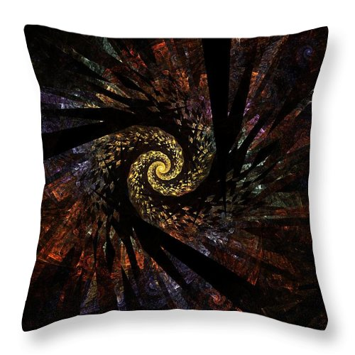 Color Colorful Fractal Digital Art Abstract Expressionism Impressionism Sphere 5 Throw Pillow featuring the painting Sphere 5 by Steve K
