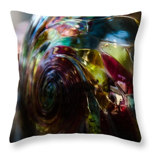 Ball Throw Pillow featuring the photograph Sphere Of Color by Joie Cameron-Brown