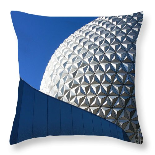 Disney Throw Pillow featuring the photograph Sphere With Contrast by Kevin Fortier