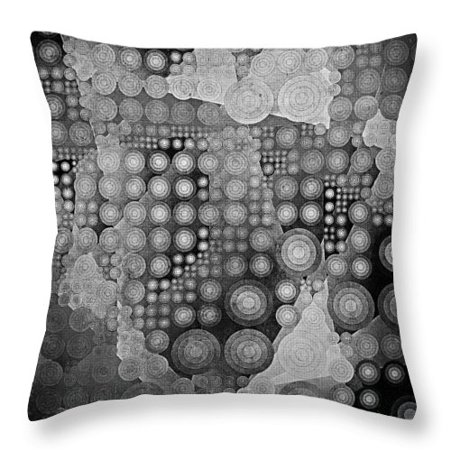 Spheroid Ii Throw Pillow featuring the digital art Spheroid II by Susan Maxwell Schmidt