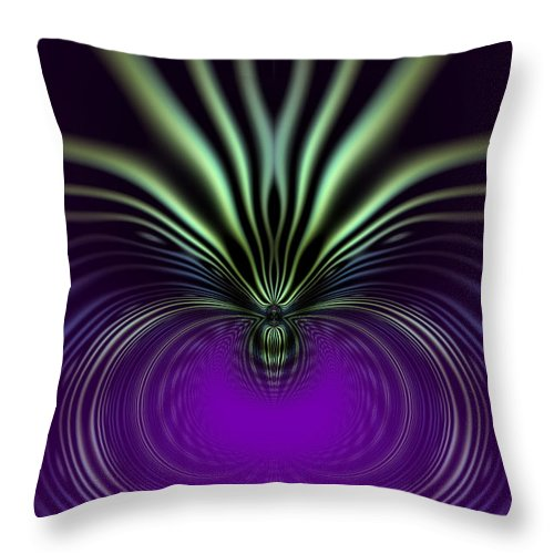 Abstract: Color; Abstract: Gestural; Abstract: Organic; Floral & Still Life: Abstract Throw Pillow featuring the digital art Spider Orchid Mandala by Ann Stretton