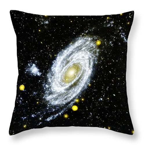 Spiral Galaxy Throw Pillow featuring the photograph Spiral Galaxy by Benjamin Yeager