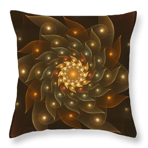 Digital Art Throw Pillow featuring the digital art Spiral Wings by Gabiw Art