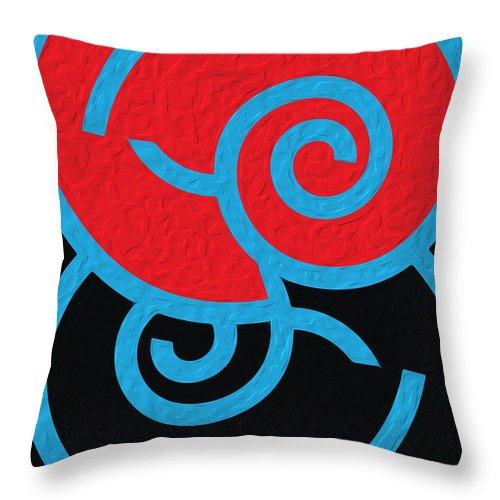 Deco Throw Pillow featuring the digital art Spirals by Mihaela Stancu