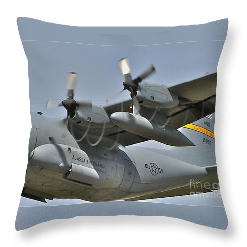 C-130 Throw Pillow featuring the photograph Spirals by Rick Monyahan