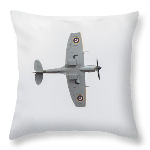 2014 Throw Pillow featuring the photograph Spirfire by Shaun Wilkinson