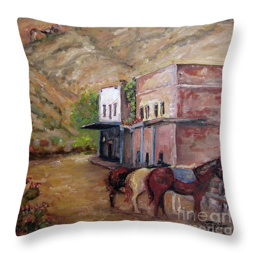 Superior Throw Pillow featuring the painting Spirit Of Superior by CJ Rider