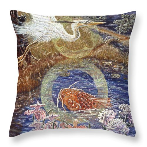 Interior Design Decor Throw Pillow featuring the painting Spirit Rising by Gail Allen