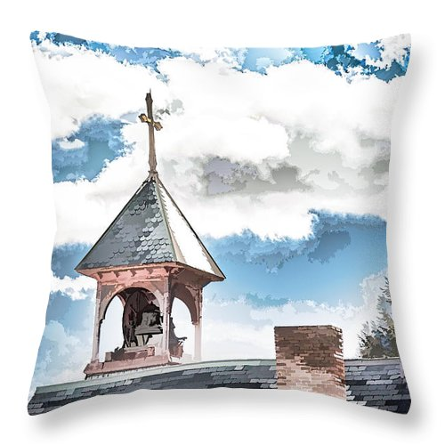 Bell Throw Pillow featuring the photograph Spiritual Pastels by Ray Summers Photography