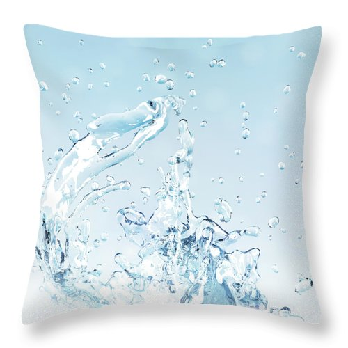 Motion Throw Pillow featuring the digital art Splash Of Water by Maciej Frolow