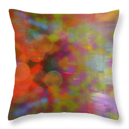 Splash Of Colors Throw Pillow featuring the mixed media Splash by Wendie Busig-Kohn