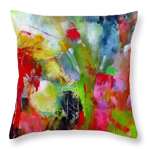 Katie Black Throw Pillow featuring the painting Splinter by Katie Black