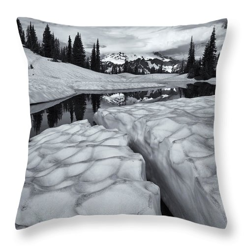 Split Throw Pillow featuring the photograph Split by Mike Dawson