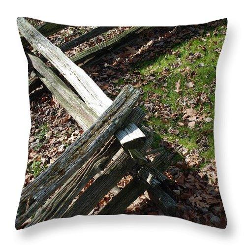 Split Throw Pillow featuring the photograph Split Rail Fence by Glenn Aker