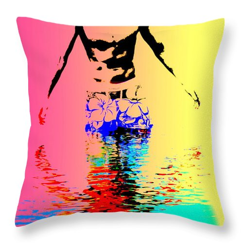 Man Throw Pillow featuring the photograph He Can Split The Water If He Wants To by Hilde Widerberg
