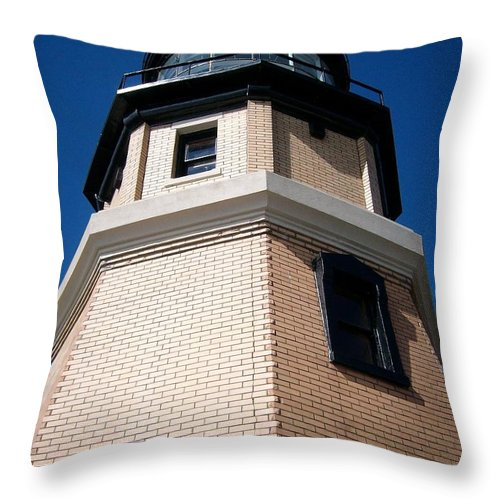 Split Throw Pillow featuring the photograph Splitrock Lighthouse 2 by Joshua Thompson
