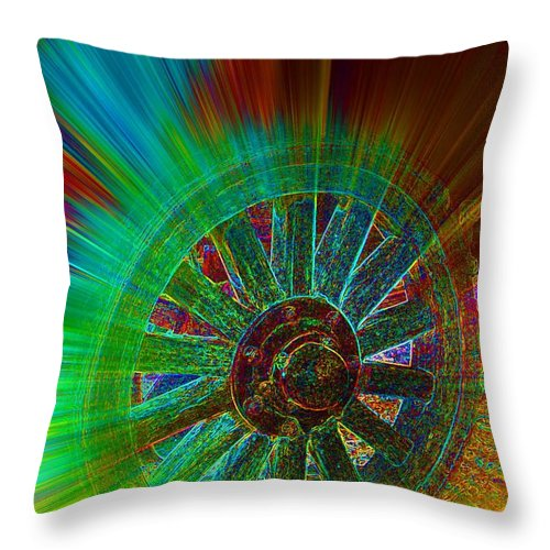 Spoken For Throw Pillow featuring the digital art Spoken For by Lorles Lifestyles