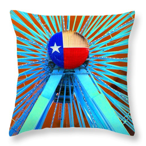 Ferris Wheel Throw Pillow featuring the photograph Spokes - Photopower 1724 by Pamela Critchlow