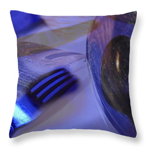 Spoons Throw Pillow featuring the photograph Spoons Forks Knife Collage by Andy Mars