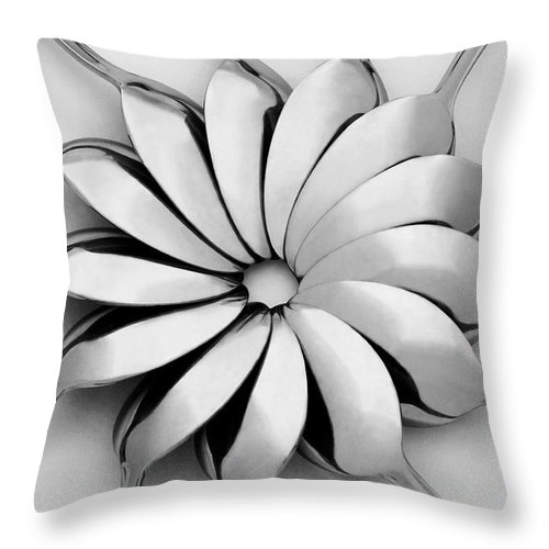 Spoon Throw Pillow featuring the photograph Spoons I by Natalie Kinnear