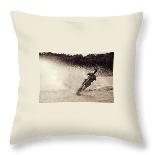 Water Throw Pillow featuring the photograph Missouri Spray by Christopher McKenzie