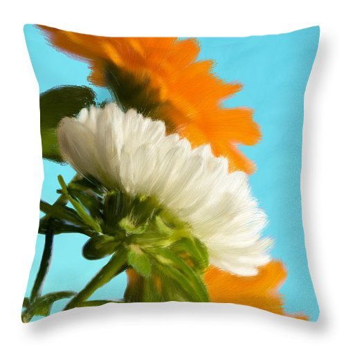 White Throw Pillow featuring the painting Spring Beauty by Bruce Nutting